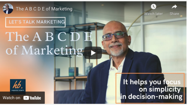 The A B C D E of Marketing Strategy